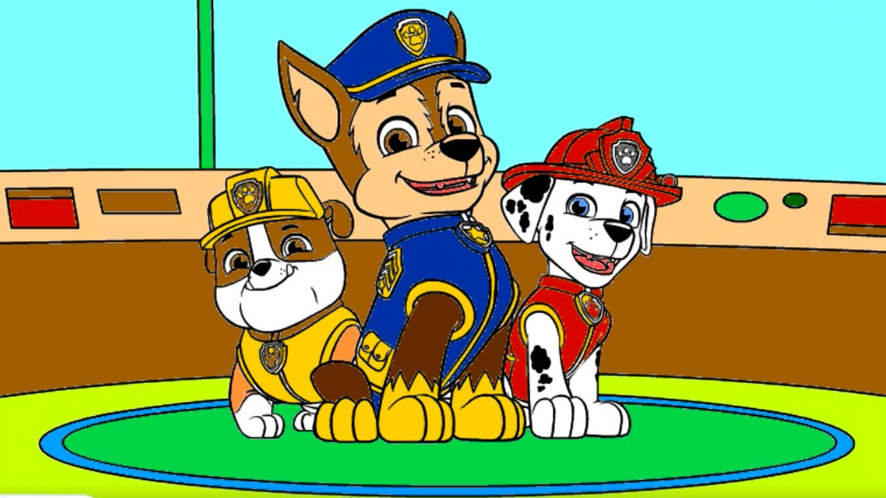 Paw Patrol Coloring Pages Marshall Paw Patrol Coloring Pages Rubble Chase Marshall Paw Patrol Coloring Book