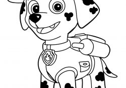 Paw Patrol Coloring Pages Marshall Paw Patrol Marshall Coloring Page Free Printable Coloring Pages