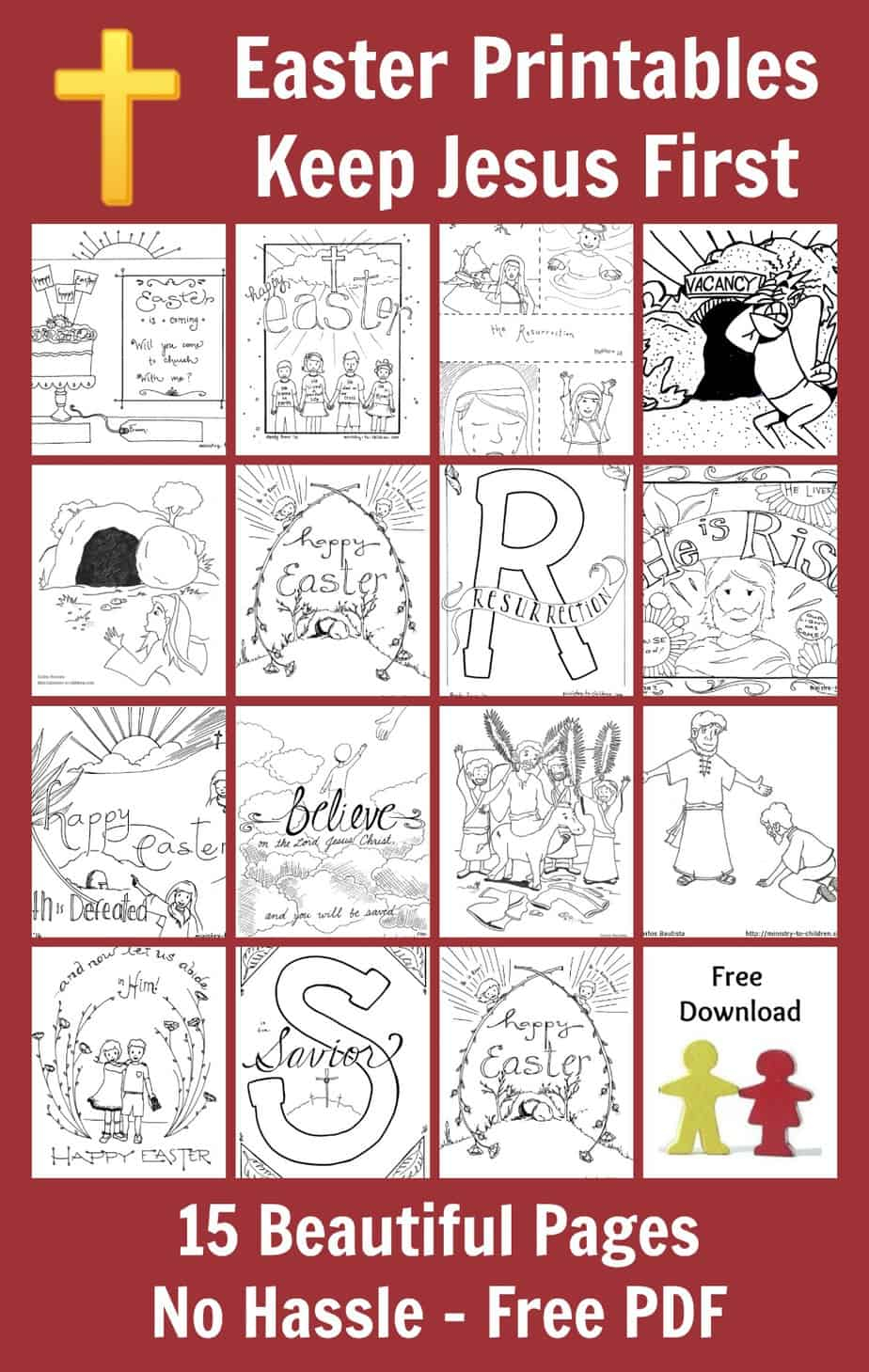 Pdf Coloring Pages For Kids 15 Easter Coloring Pages Religious Free Printables For Kids