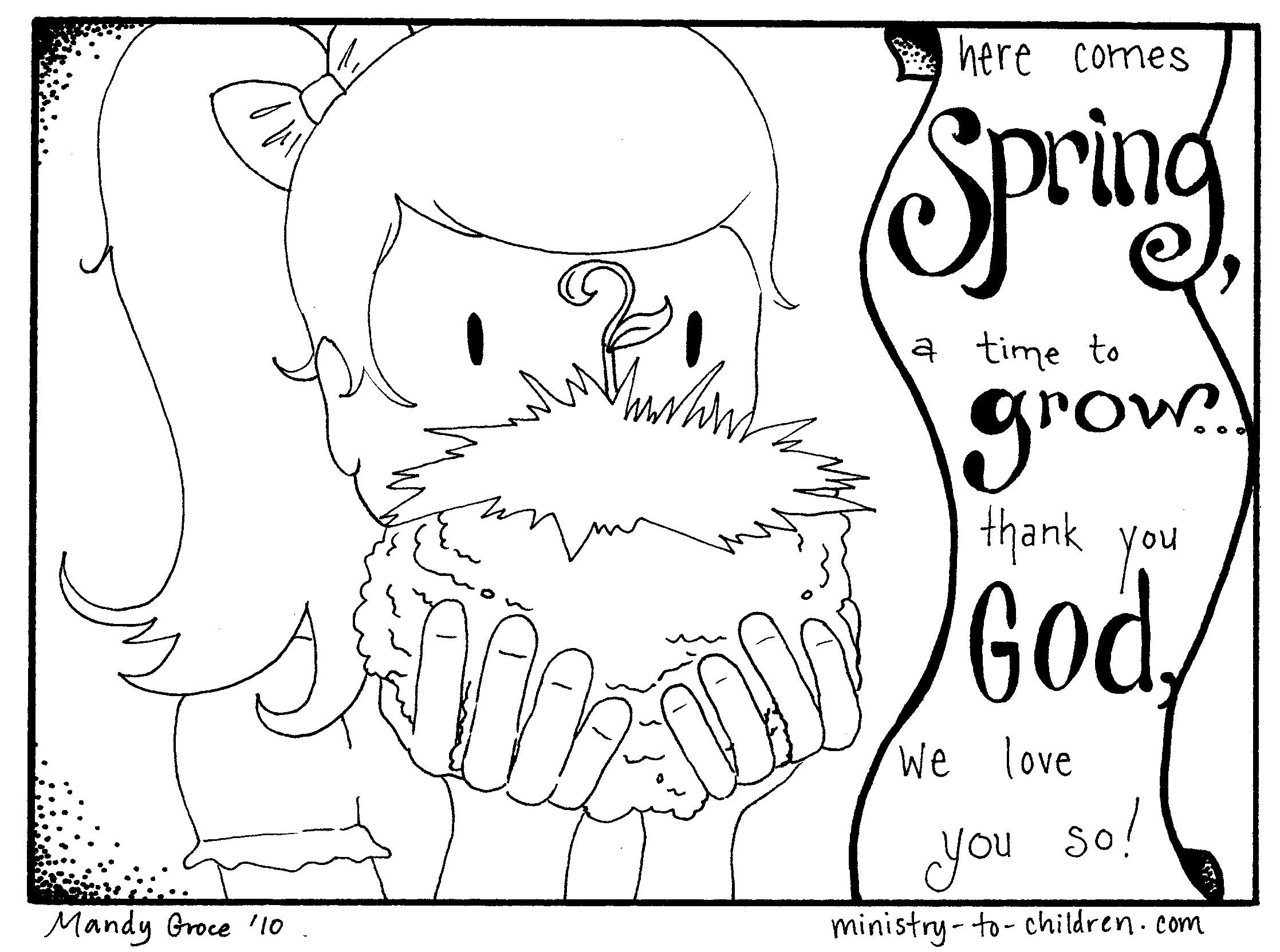 Pdf Coloring Pages For Kids Coloring Ideas Printable Spring Coloring Pages For Preschoolers