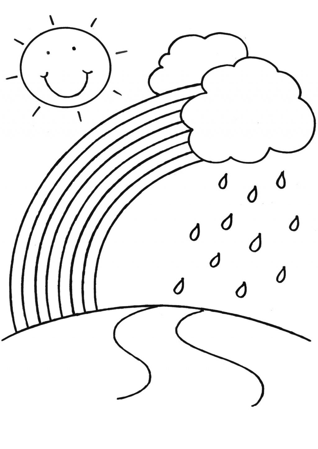 Pdf Coloring Pages For Kids Coloring Page Incredible Rainbow Coloring Book Page Picturesr