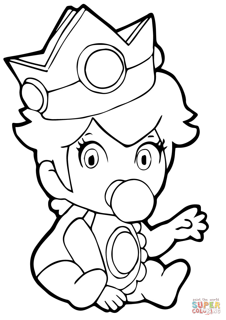Peach From Mario Coloring Pages Ba Princess Peach Coloring Page Free Printable Coloring Pages