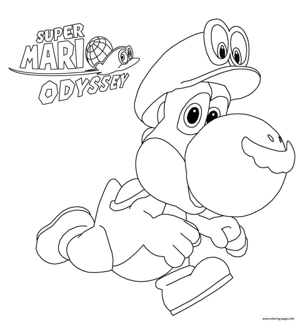 Peach From Mario Coloring Pages Coloring Super Mario Coloring 1549996248super Odyssey Yoshi