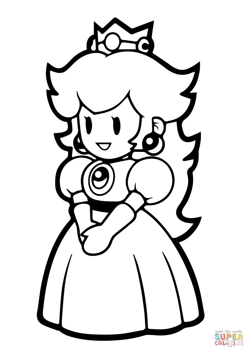 Peach From Mario Coloring Pages Ktngokogc For Mario Princess Peach Coloring Pages 419shco