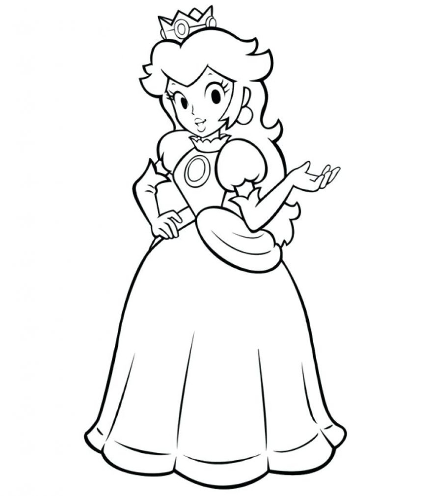 Peach From Mario Coloring Pages Printable Ba Princess Peach Coloring Pages In Mario Page And