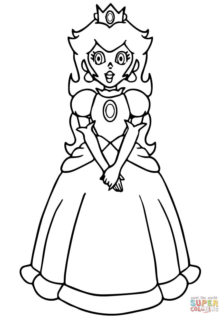 Peach From Mario Coloring Pages Super Mario Princess Peach Coloring Page Free Printable Coloring Pages
