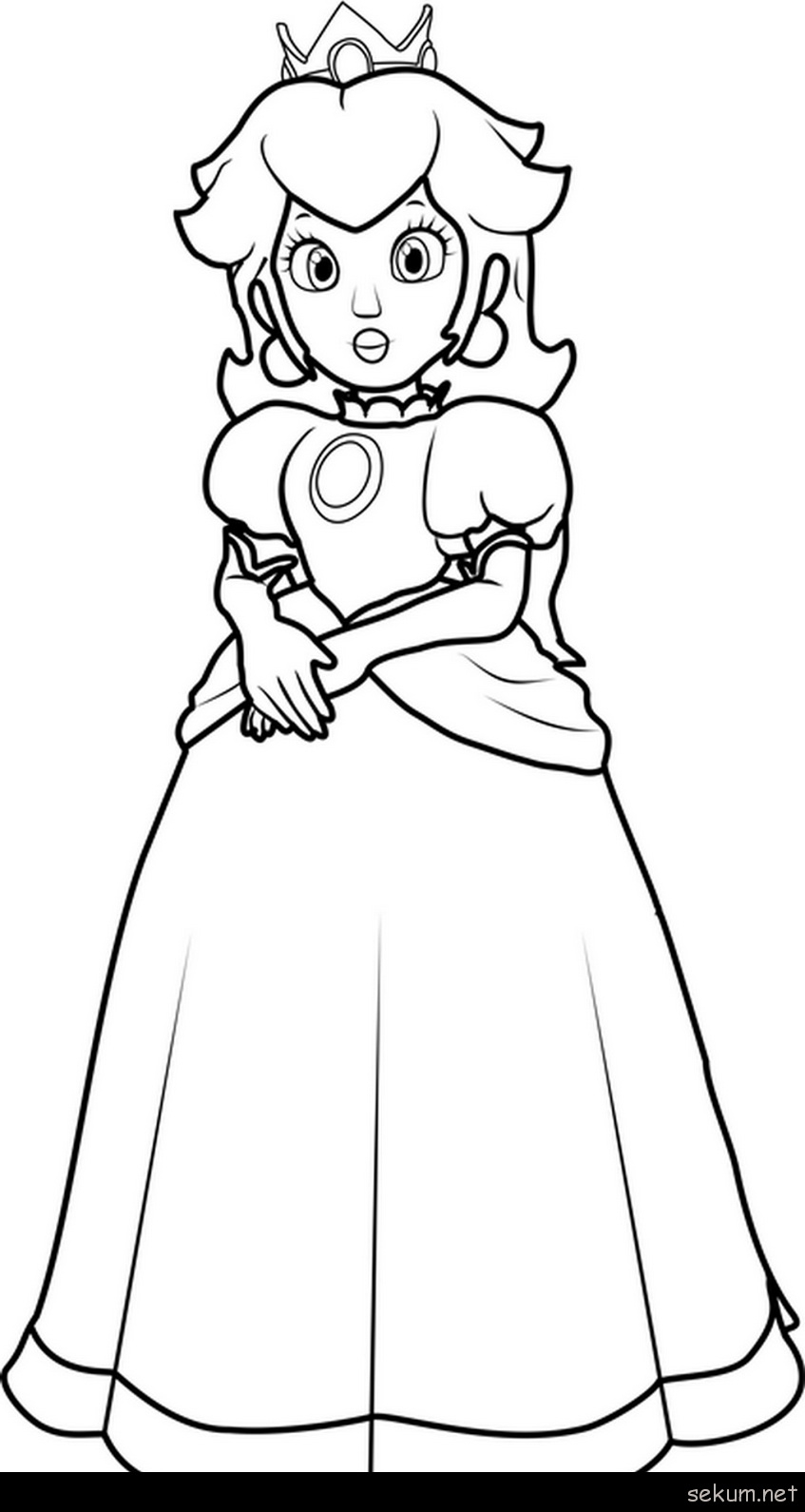 Peach From Mario Coloring Pages Super Mario Princess Peach Coloring Pages Princess Peach Coloring