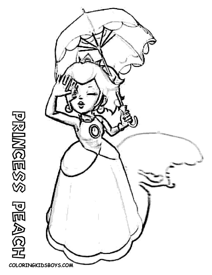 Peach From Mario Coloring Pages Super Mario Princess Peach Free Coloring Pages On Art Coloring Pages