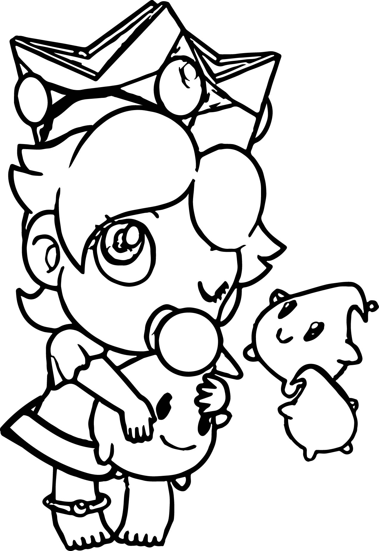 Peach From Mario Coloring Pages The Best Free Rosalina Coloring Page Images Download From 162 Free