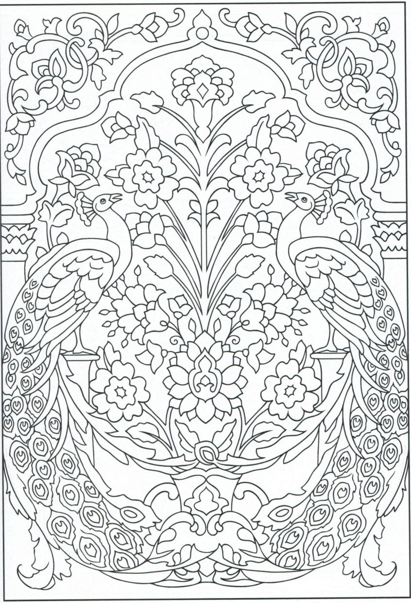 Peacock Color Page Coloring Peacock Coloring Pages For Adults Colouring In At