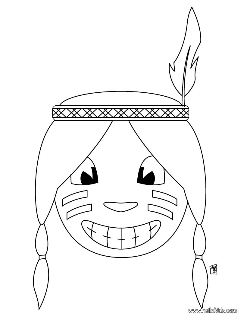 Pilgrim Indian Coloring Pages Indian Coloring Pages Coloring Pages Printable Coloring Pages