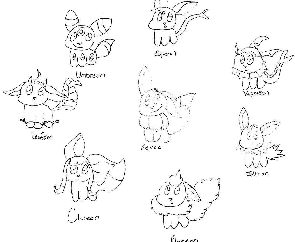 Pokemon Eevee Evolutions Coloring Pages Coloring Book World Pokemon Coloring Pages Eevee Evolutions All