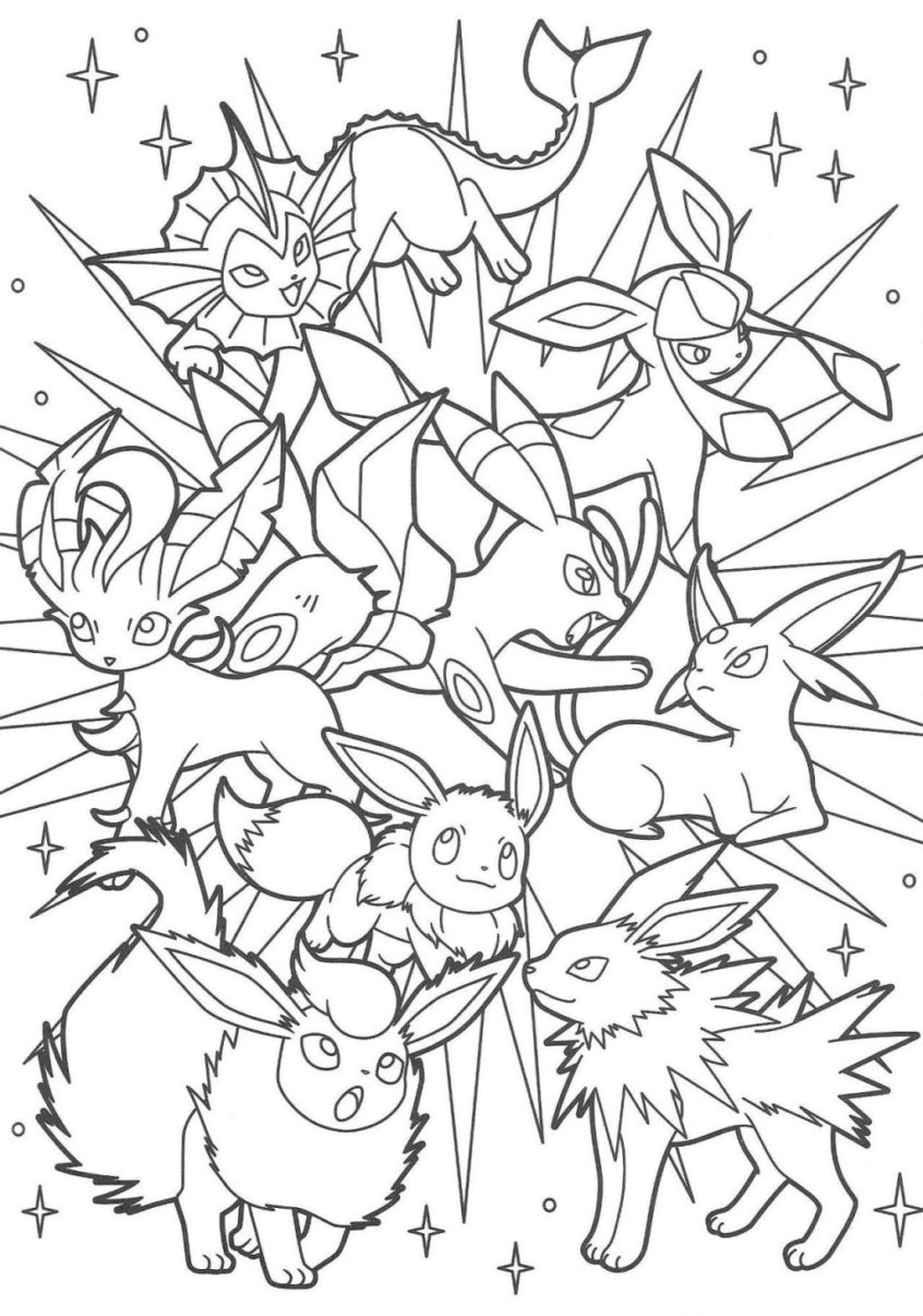 Pokemon Eevee Evolutions Coloring Pages Coloring Book World Tremendous Eevee Evolutions Coloring Pages