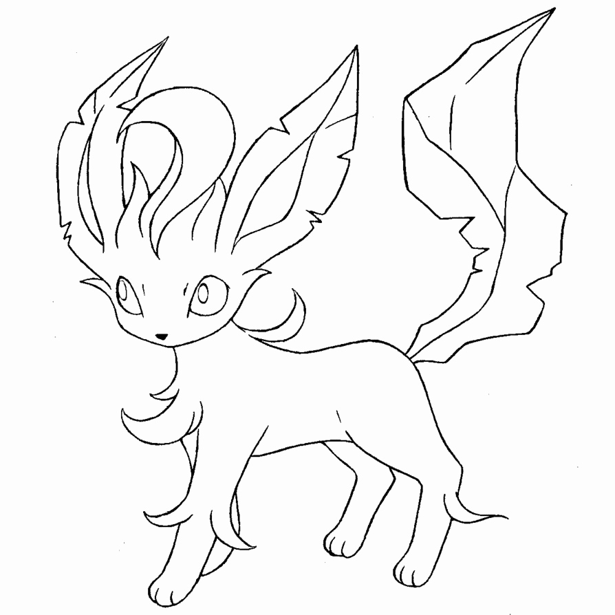 Pokemon Eevee Evolutions Coloring Pages Coloring Page Leafeon Coloring Pages All Pokemon Coloring Pages
