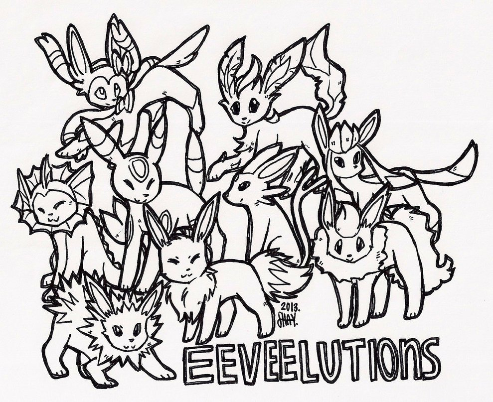 Pokemon Eevee Evolutions Coloring Pages Coloring Pages Eeveelutions Coloring Pages Inviting Pokemon New