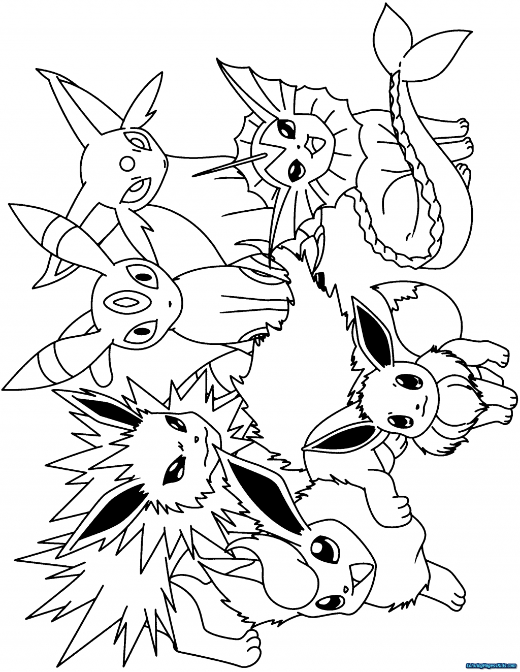 Pokemon Eevee Evolutions Coloring Pages Coloring Pages Surprising Ideas Pokemoning Pages Eevee Evolutions