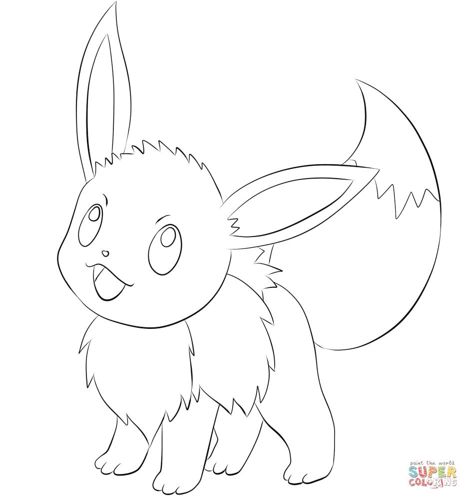 Pokemon Eevee Evolutions Coloring Pages Eevee Coloring Page Free Printable Coloring Pages
