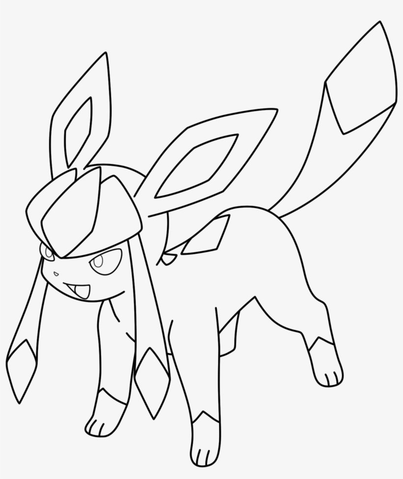 Pokemon Eevee Evolutions Coloring Pages Glaceon Kizarin On Deviantart Glaceon Pokemon Coloring Pages