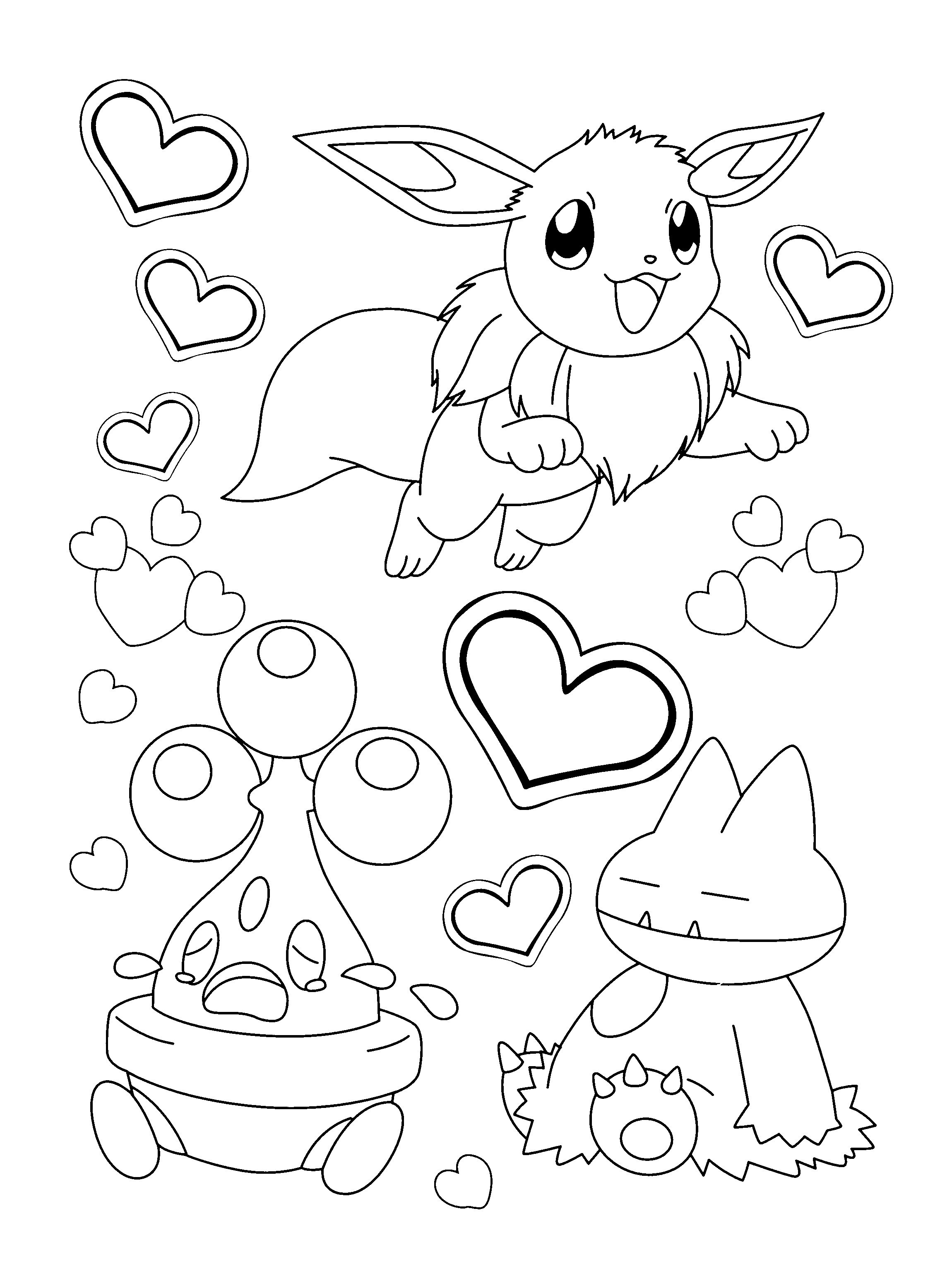 Pokemon Eevee Evolutions Coloring Pages Pokemon Coloring Pages Eevee Evolutions Together Best Of Save To Her