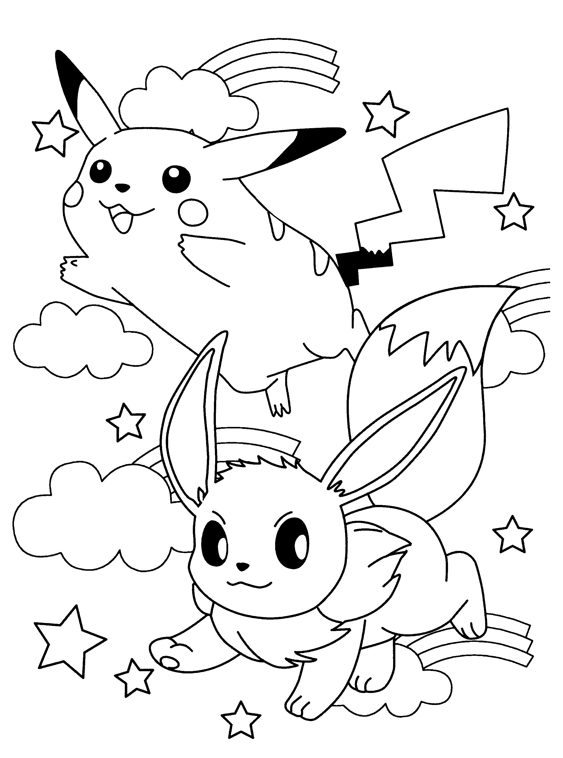 Pokemon Eevee Evolutions Coloring Pages Pokemon Coloring Pages Eevee Evolutions Together