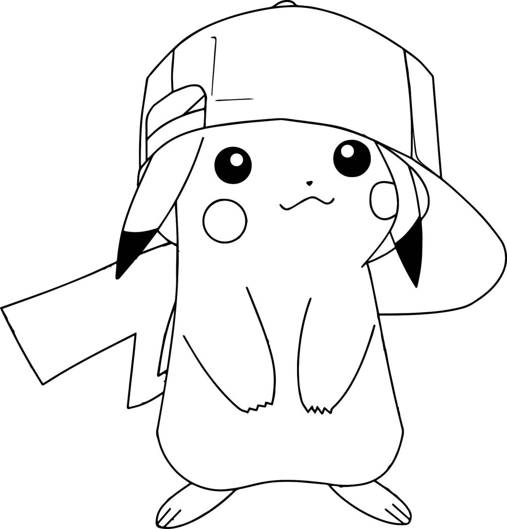 Pokemon Eevee Evolutions Coloring Pages Top Pok Mon Coloring Pages Pokemon Pikachu Wearing Hat Michelle