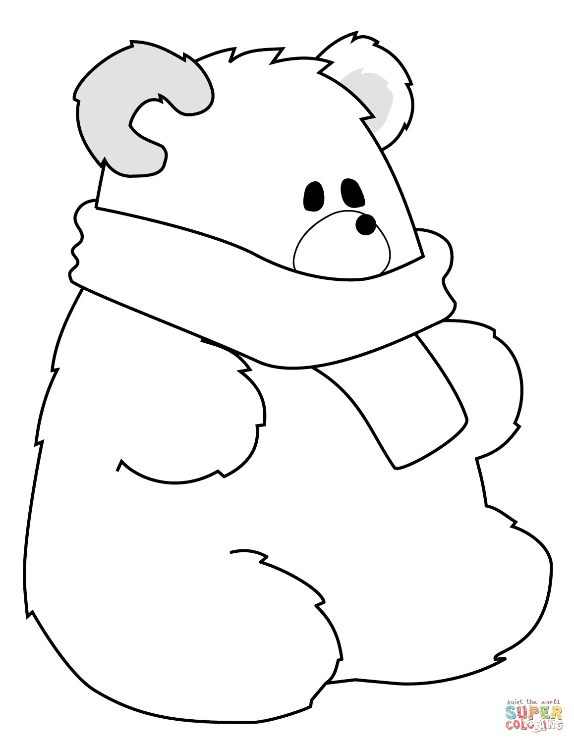 Polar Express Color Pages Polar Bear Coloring Page Coloring Pages For Children