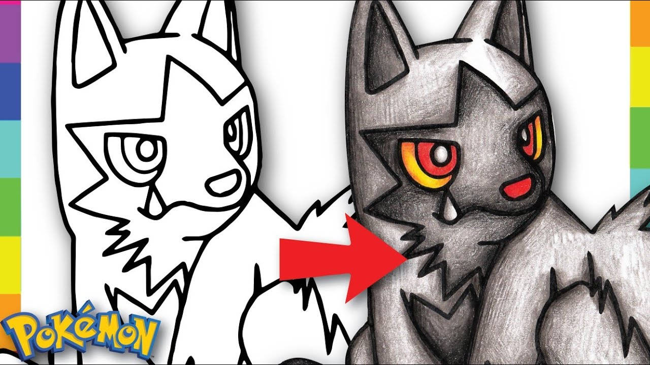 Poochyena Coloring Pages Coloring Poochyena Pokemon Coloring Pages For Kids