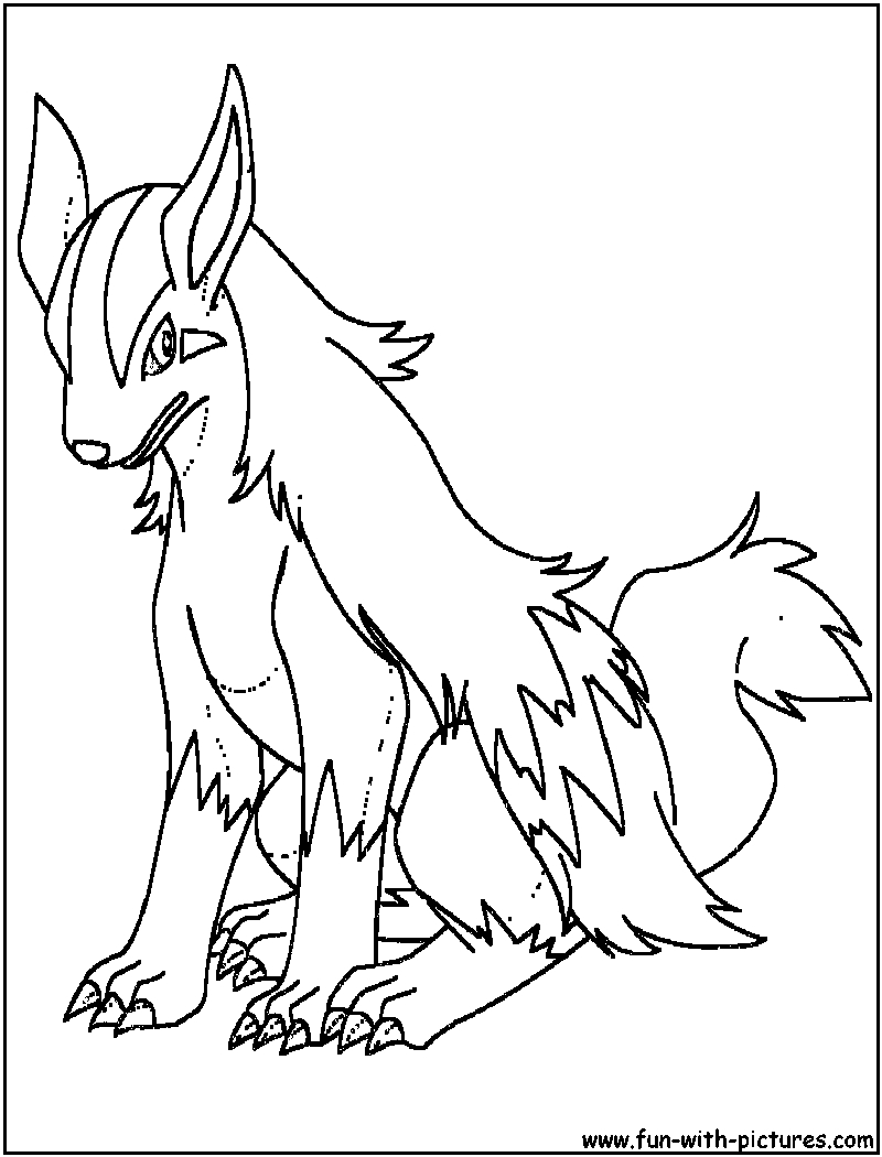 Poochyena Coloring Pages Mightyena Coloring Page Coloring Home