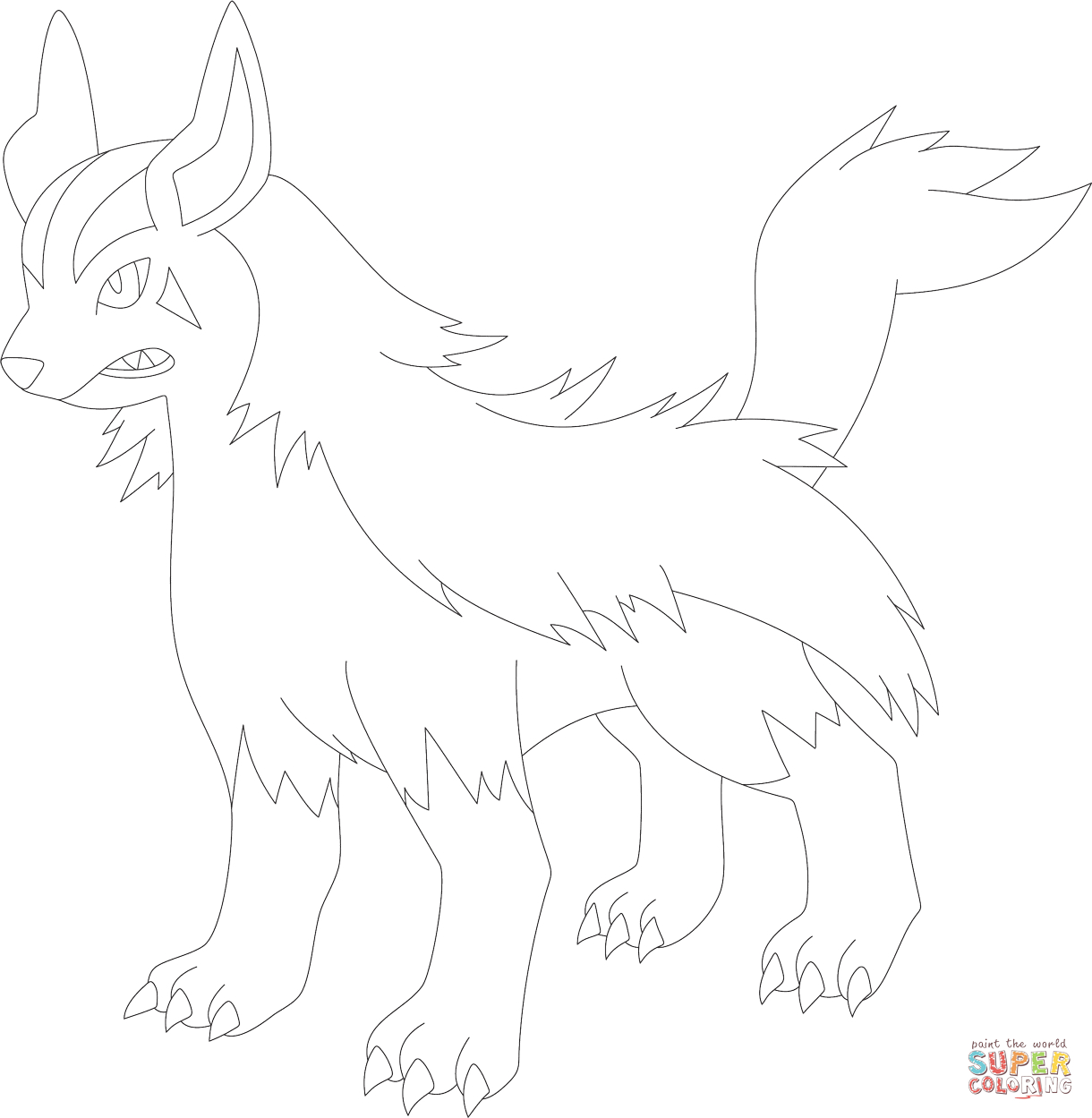 Poochyena Coloring Pages Mightyena Coloring Page Free Printable Coloring Pages