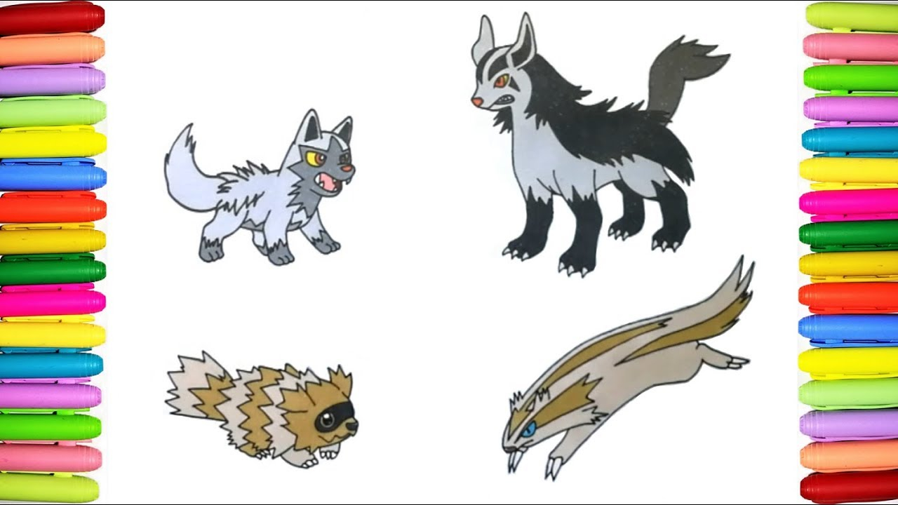 Poochyena Coloring Pages Pokemon Coloring Pages Poochyena Mightyena Zigzagoon And Linoone