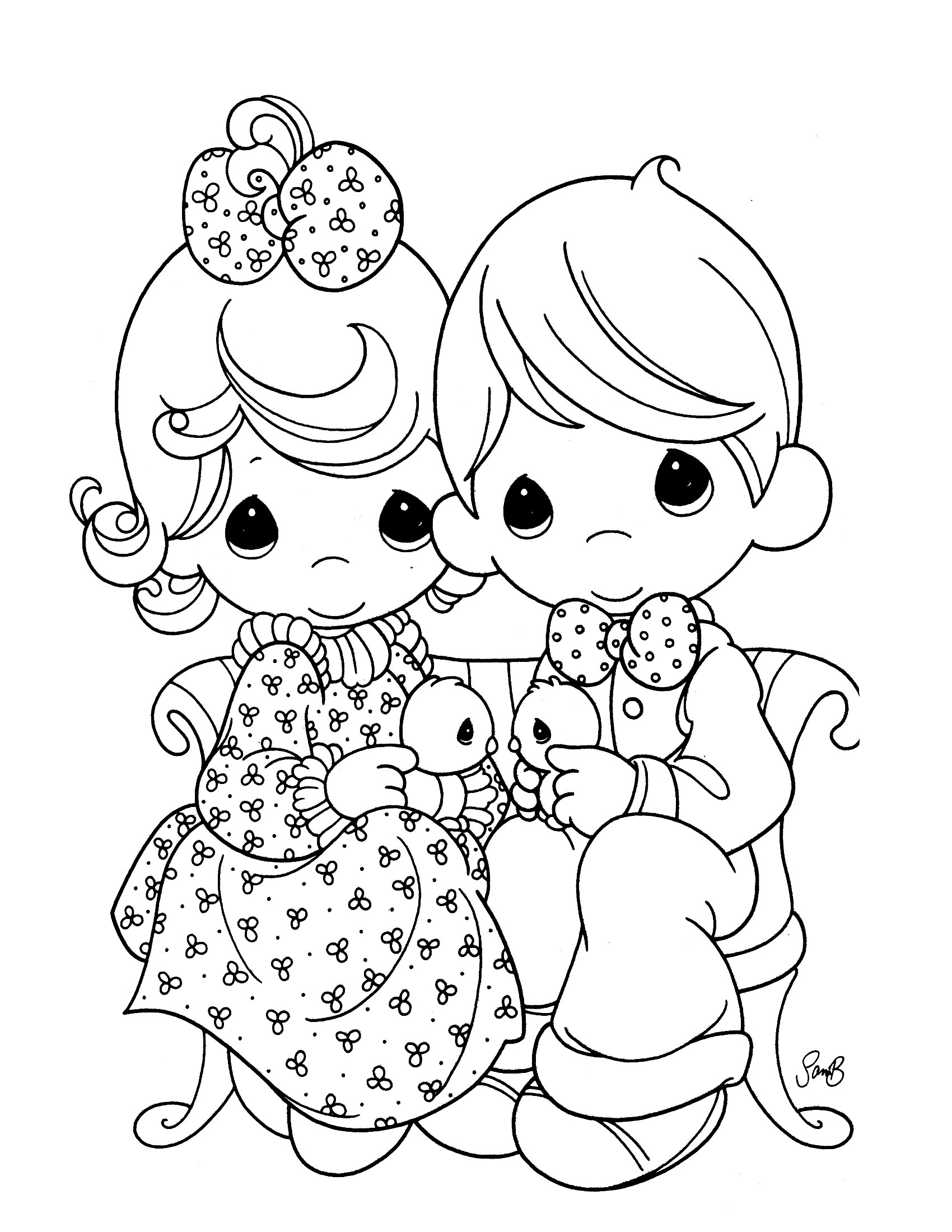 Precious Moments Baby Coloring Pages Ba Precious Moments Coloring Pages Top Coloring