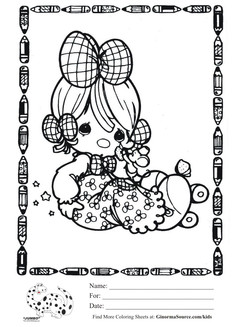 Precious Moments Baby Coloring Pages Kids Coloring Page Precious Moments Ba Coloring Sheet