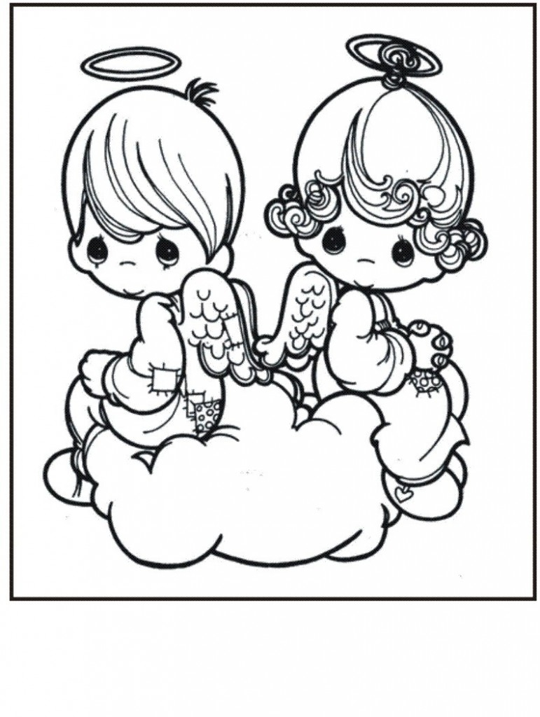 Precious Moments Baby Coloring Pages Precious Moments Angel Drawing At Getdrawings Free For