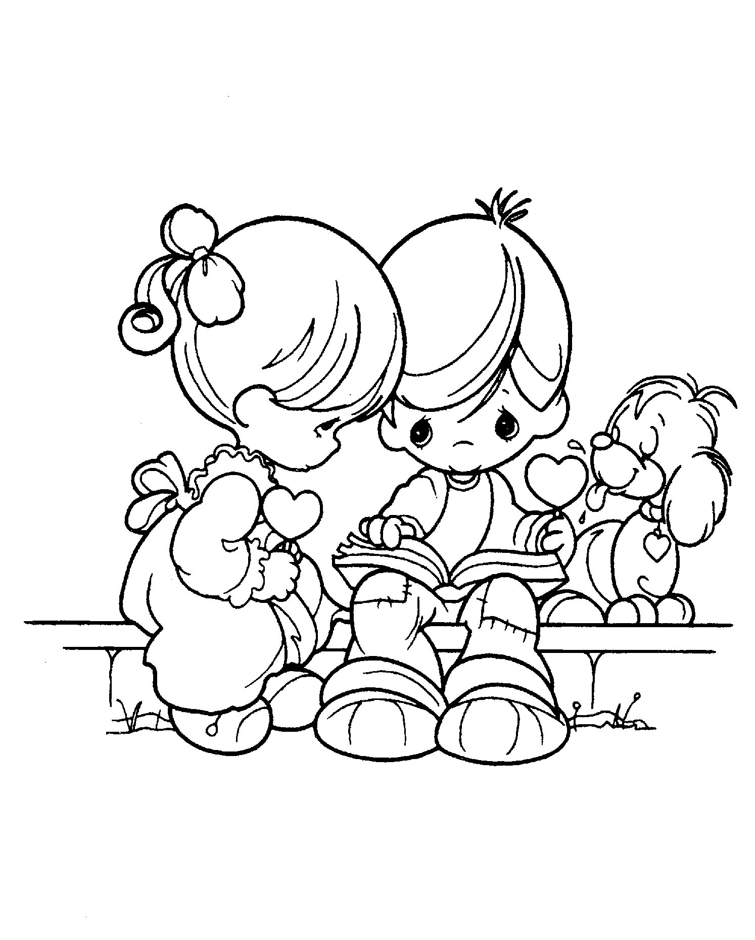 Precious Moments Letters Coloring Pages Precious Moments Girl Coloring Pages At Getdrawings Free For