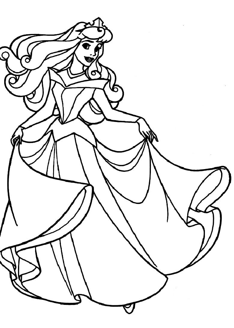 Princess Aurora Coloring Pages Free Aurora Sleeping Beauty Coloring Pages At Getdrawings Free For