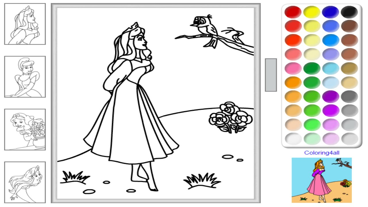 Princess Aurora Coloring Pages Free Free Disney Princess Online Coloring Pages Disney Princess Coloring Game For Kids