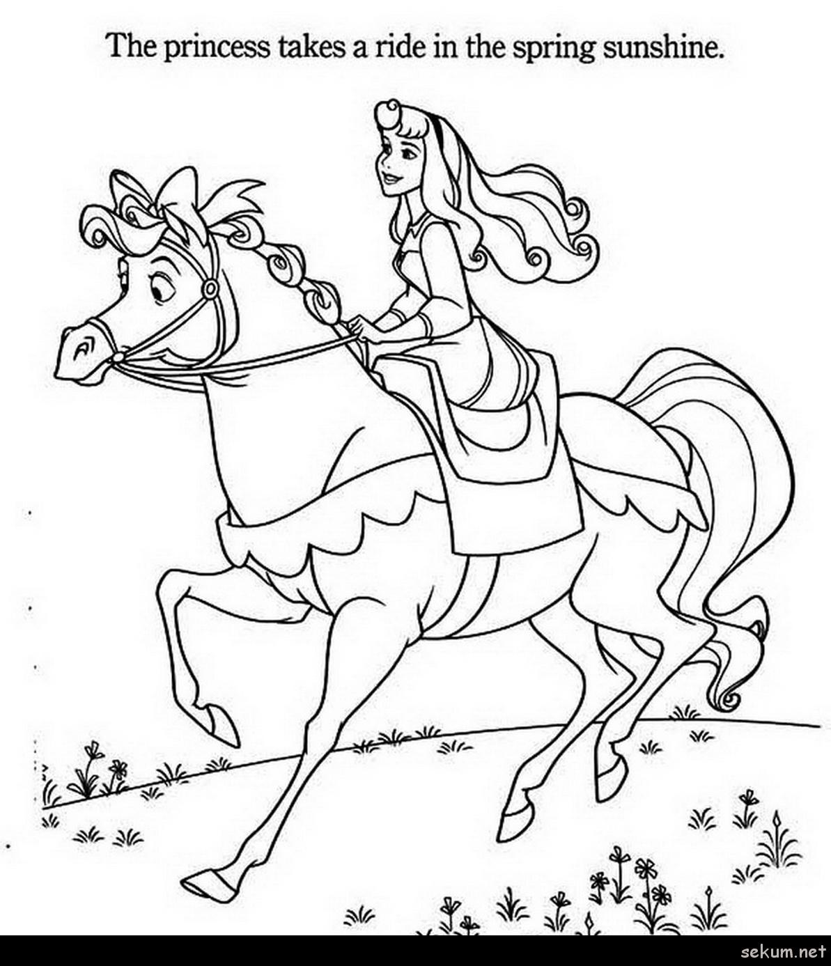 Princess Aurora Coloring Pages Free Princess And Horse Coloring Pages Princess Aurora Princess Aurora
