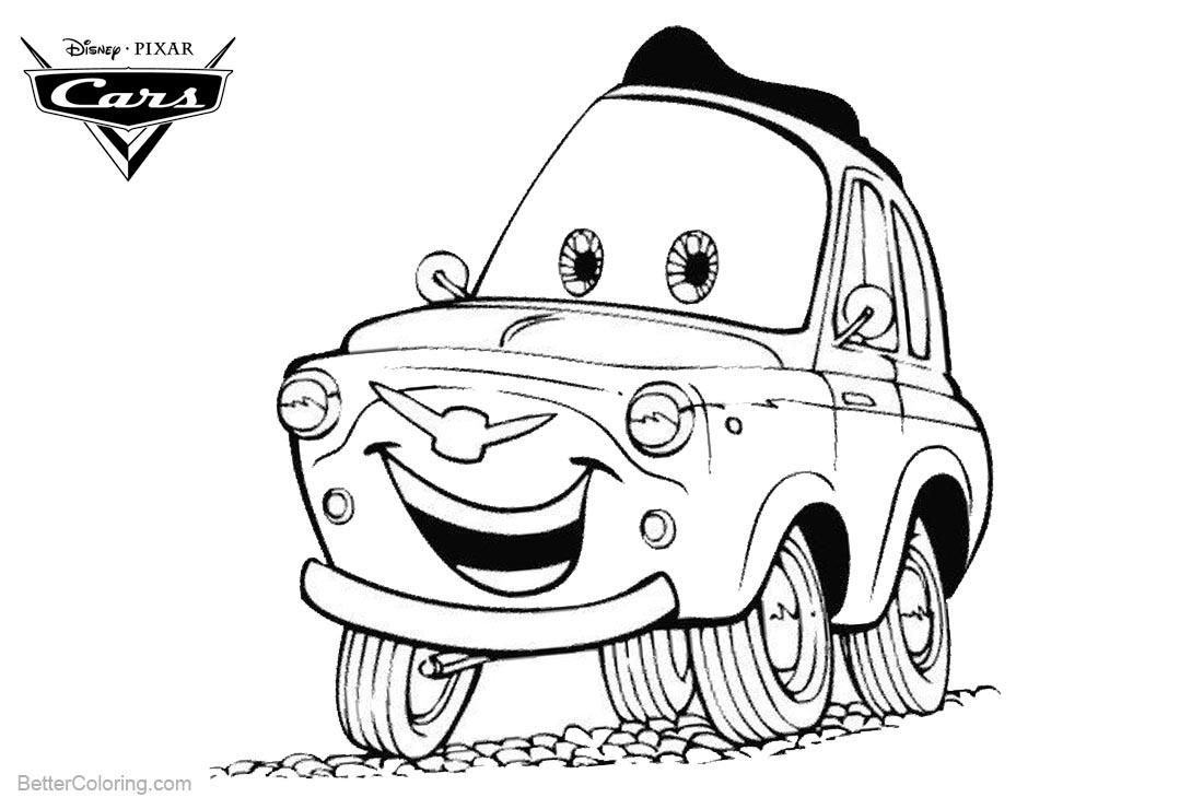 Printable Coloring Pages Cars Cars Pixar Coloring Pages Luigi Free Printable Coloring Pages