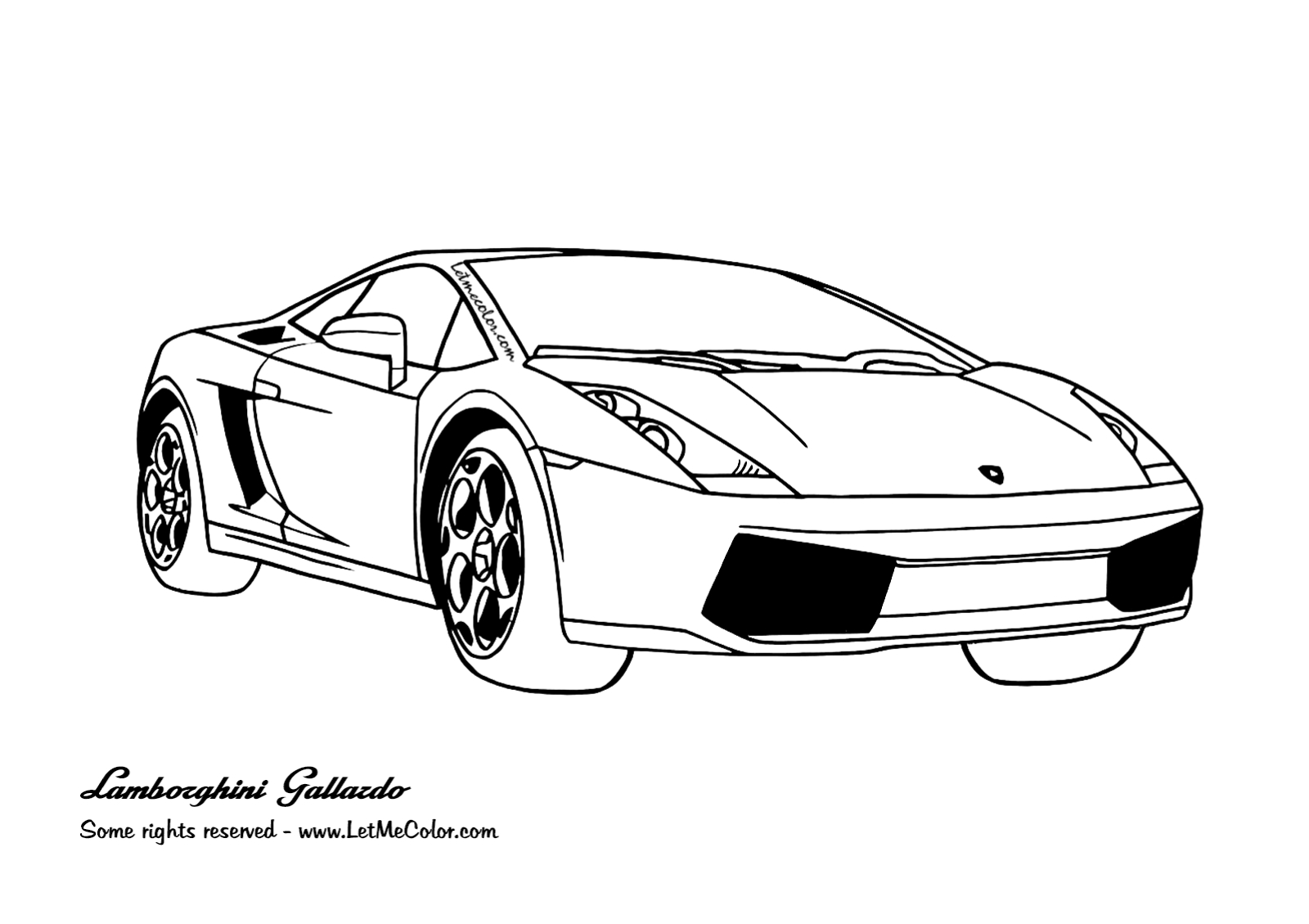 Printable Coloring Pages Cars Coloring Supercars Letmecolor