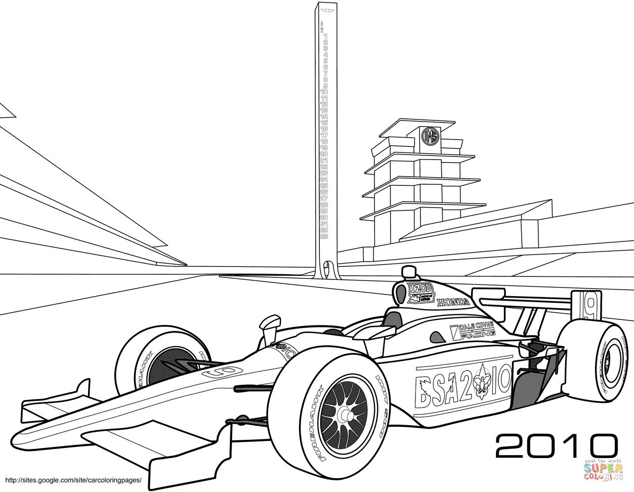 Printable Coloring Pages Cars Indy Race Car Coloring Page Free Printable Coloring Pages