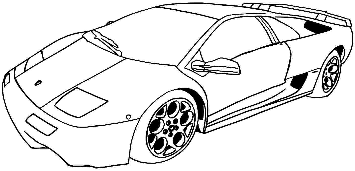 Printable Coloring Pages Cars Printable Coloring Pages Sports Cars Sport Throughout Car For