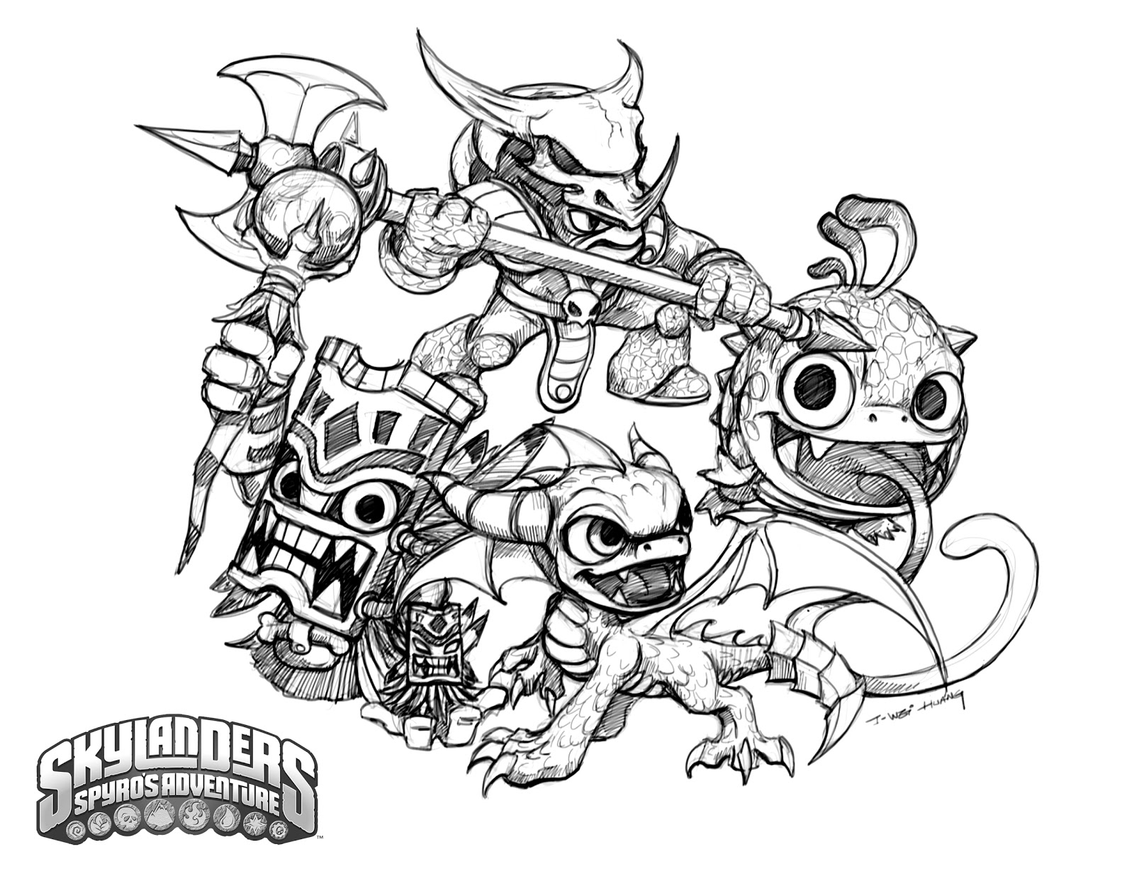 Printable Coloring Pages Skylanders 20 Skylanders Coloring Pages Images Free Coloring Pages Part 3