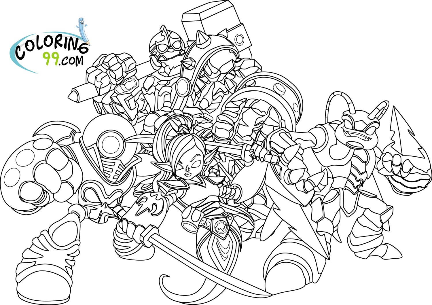 Printable Coloring Pages Skylanders 20 Skylanders Coloring Pages Images Free Coloring Pages