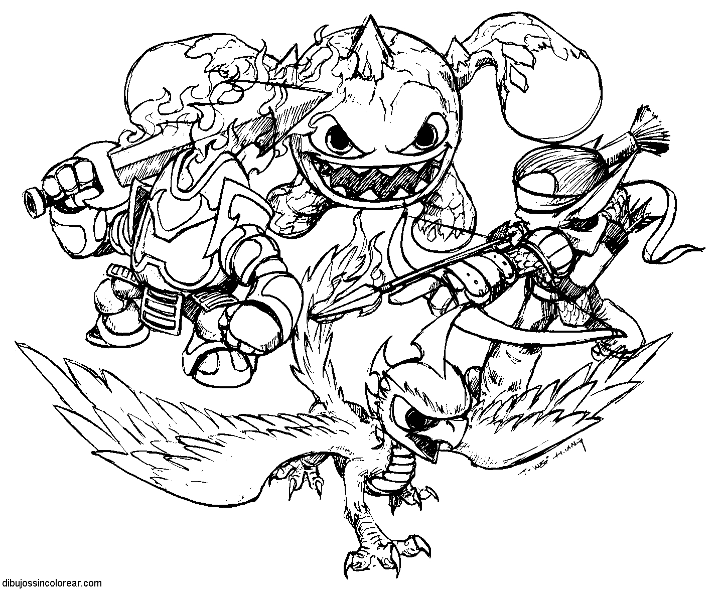 Printable Coloring Pages Skylanders Coloring Pages Skylander Giants Giant Coloring Pages Free For Kids