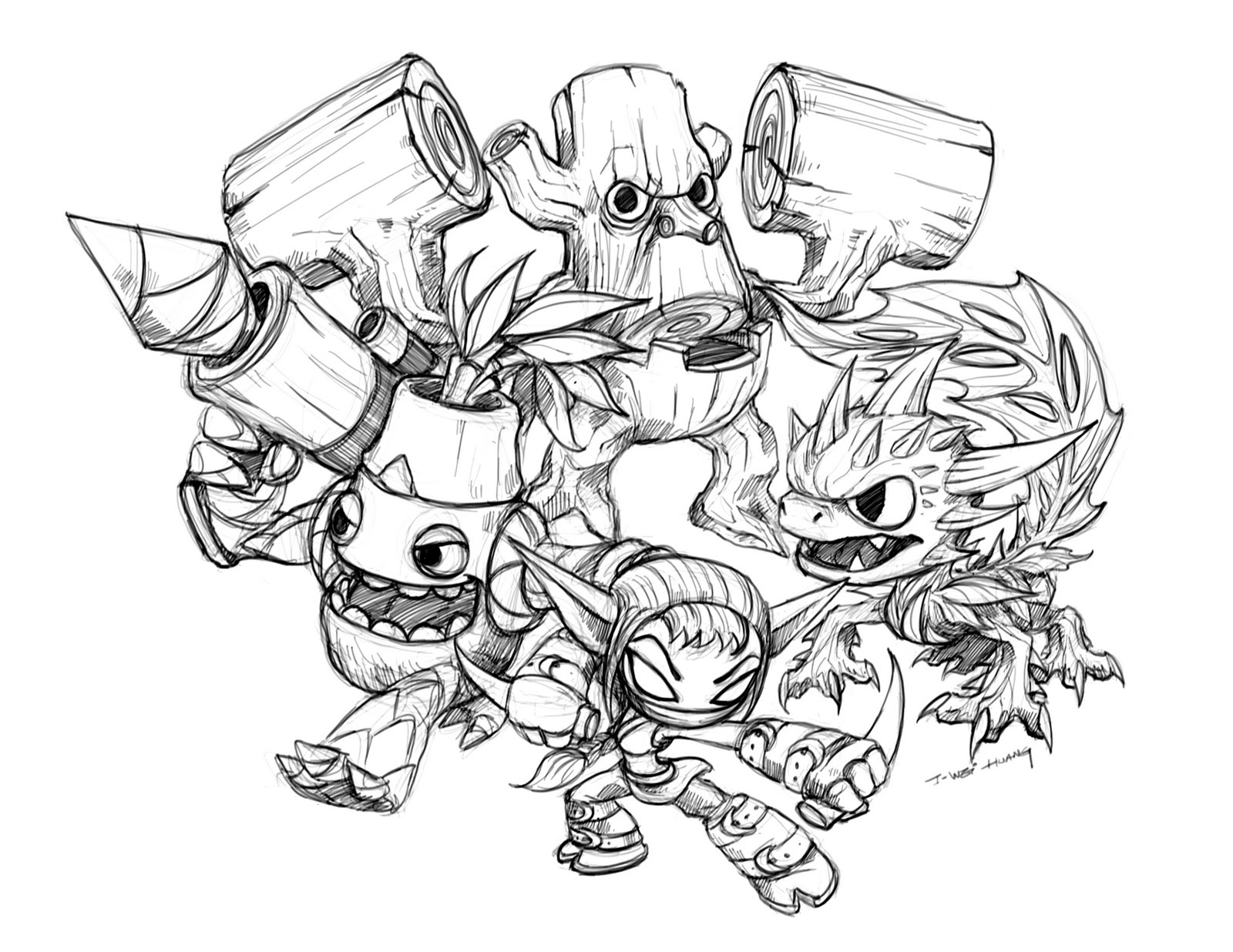 Printable Coloring Pages Skylanders Free Printable Skylander Giants Coloring Pages For Kids