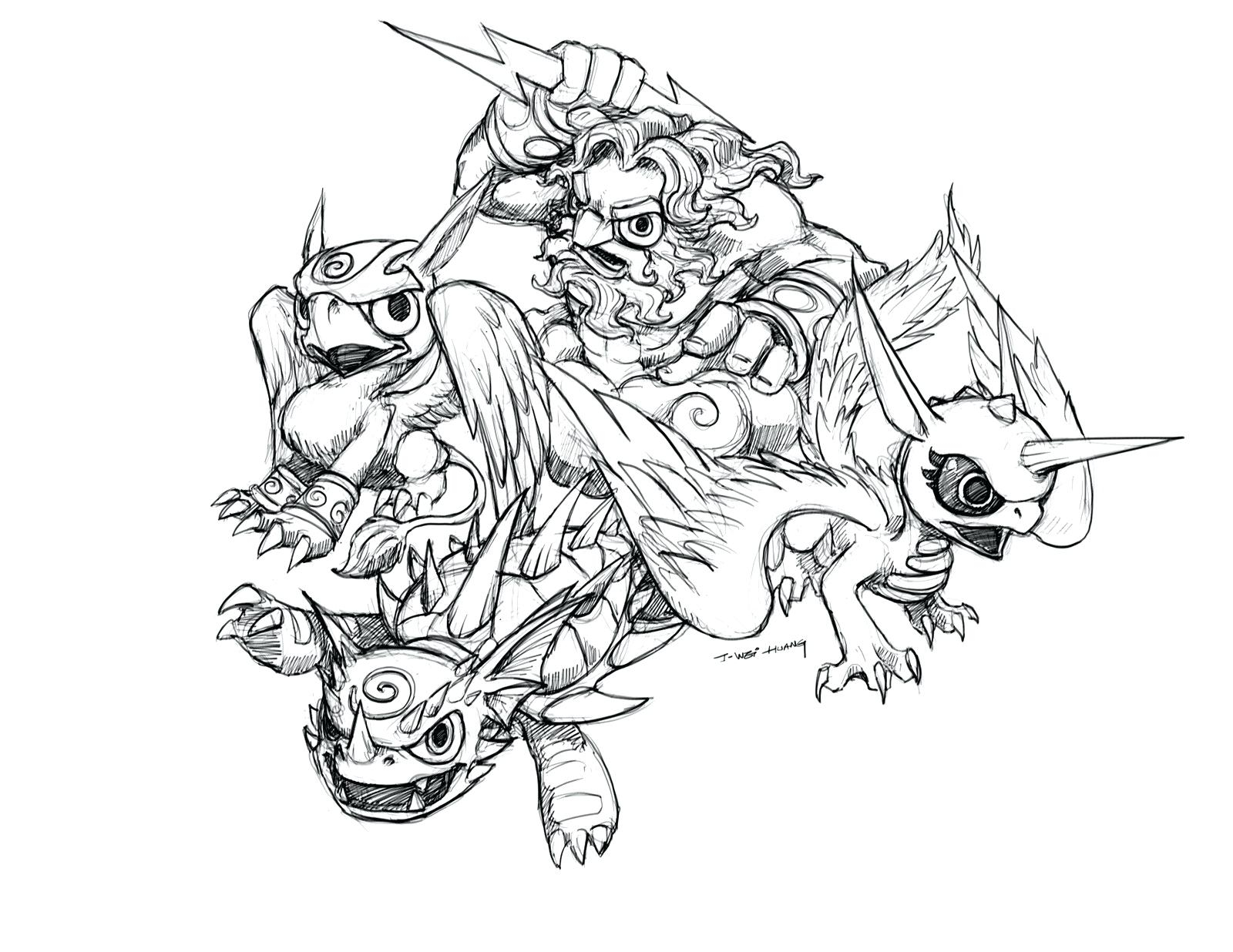 Printable Coloring Pages Skylanders Printable Coloring Pages Skylanders Trap Team Lagunapaperco