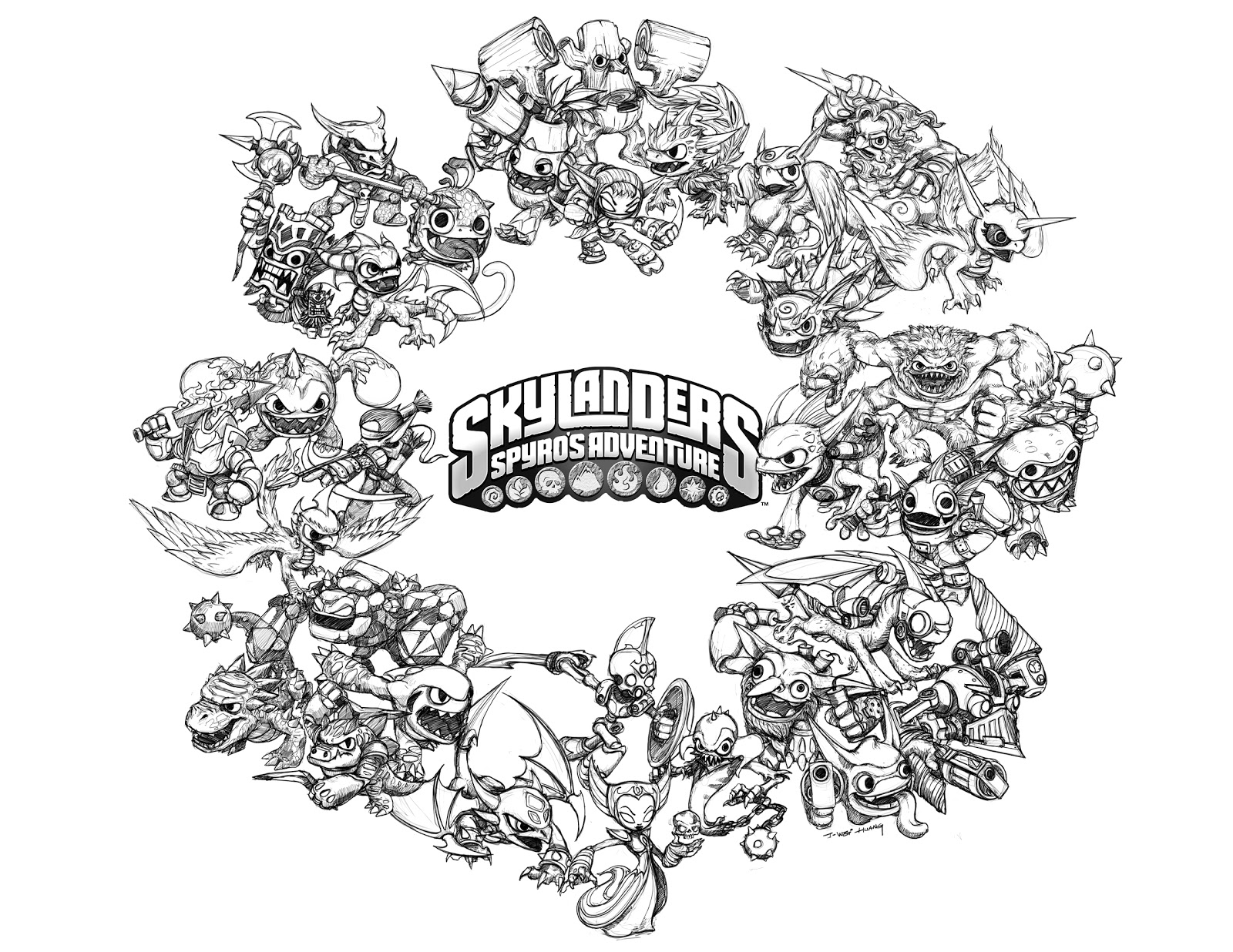 Printable Coloring Pages Skylanders Skylanders 3 Cartoons Printable Coloring Pages