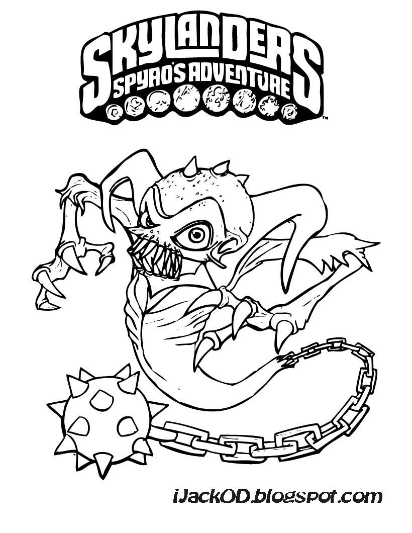 Printable Coloring Pages Skylanders Skylanders Coloring Page Printable Coloring Home