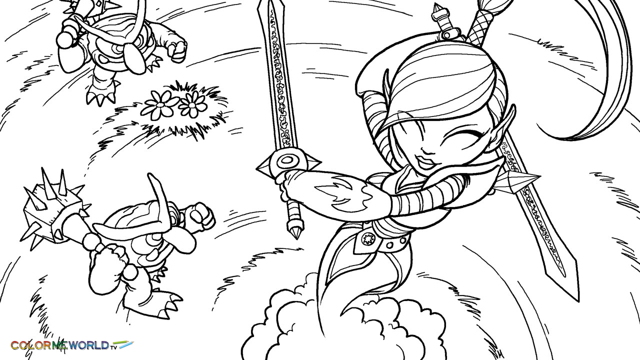 Printable Coloring Pages Skylanders Skylanders Coloring Pages Free Skylanders Coloring Pages To