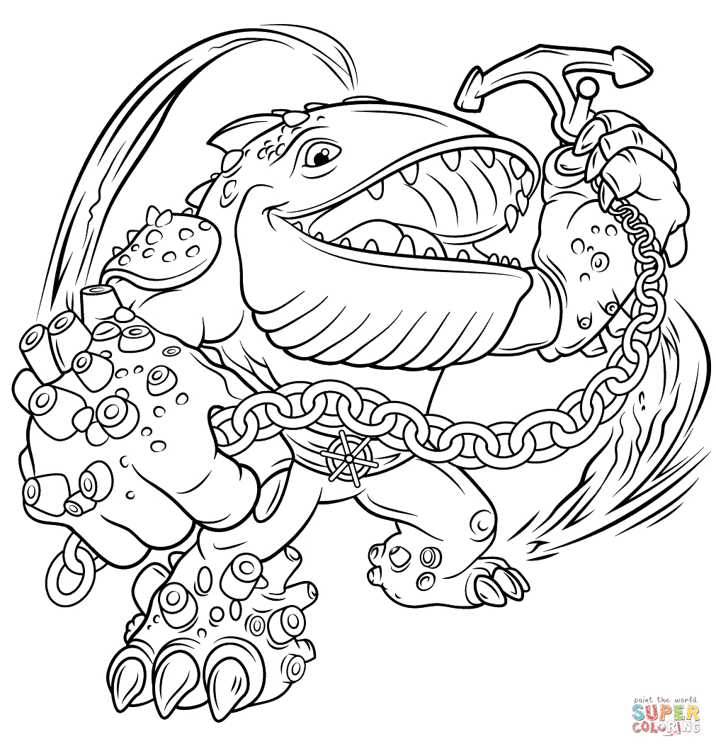 Printable Coloring Pages Skylanders Skylanders Giants Thumpback Coloring Page Free Printable Coloring